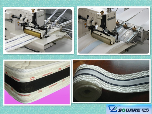 Model CTF Mattress Logo Tape Sewing Machine
